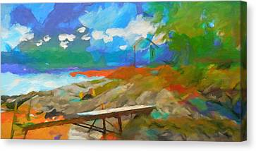 Coastal Panoramic Abstraction Canvas Print by Lutz Baar