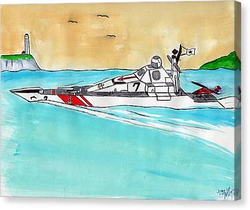 Coastal Patrol Canvas Print by Ronald Woods