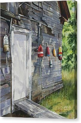 Coastal Shanty Canvas Print by Karol Wyckoff