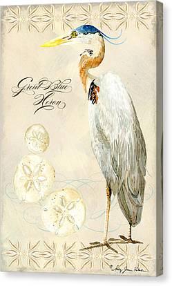 Coastal Waterways - Great Blue Heron Canvas Print by Audrey Jeanne Roberts