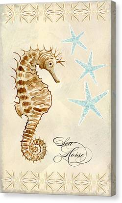 Coastal Waterways - Seahorse Dance Canvas Print by Audrey Jeanne Roberts