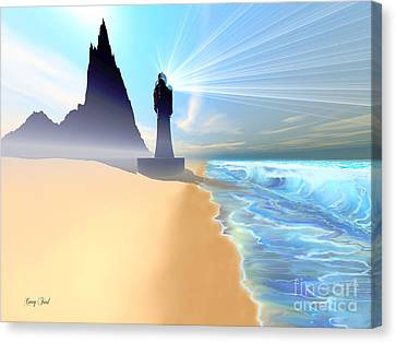 Coastline Canvas Print by Corey Ford