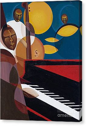 Cobalt Jazz Canvas Print by Kaaria Mucherera