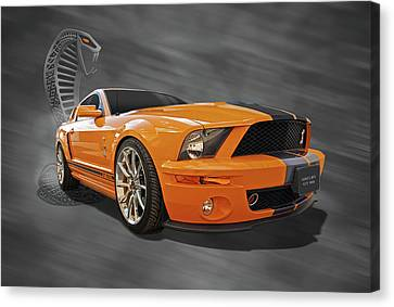 Cobra Power - Shelby Gt500 Mustang Canvas Print by Gill Billington
