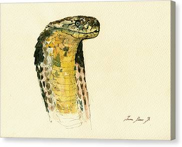 Cobra Snake Poster Canvas Print by Juan  Bosco
