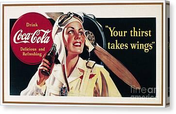 Coca-cola Ad, 1941 Canvas Print by Granger