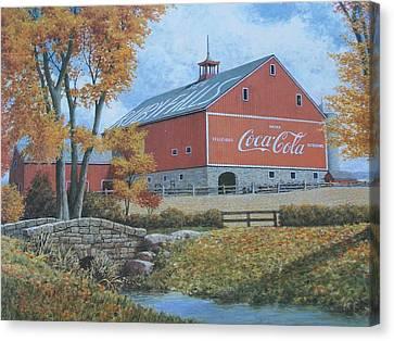 Coca Cola Americana Canvas Print by Jake Hartz