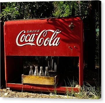 Coca-cola Canvas Print by Carol Milisen