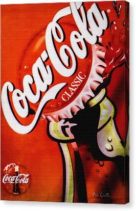 Coca Cola Classic Canvas Print by Bob Orsillo