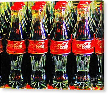 Coca Cola Coke Bottles Canvas Print by Wingsdomain Art and Photography