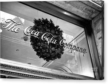 Coca Cola Company On 5th Avenue Canvas Print by John Rizzuto