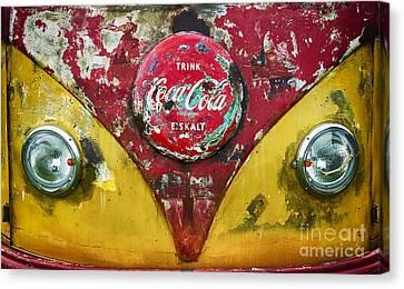 Coca Cola Vw Split Screen  Canvas Print by Tim Gainey