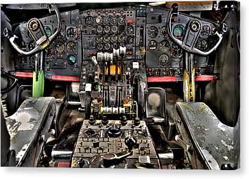 Cockpit Controls Hdr Canvas Print by Kevin Munro
