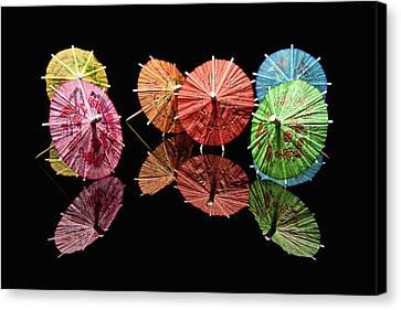 Cocktail Umbrellas II Canvas Print by Tom Mc Nemar