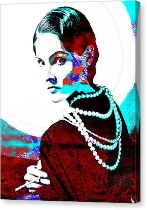 Coco Chanel Hommage Canvas Print by Vel Verrept