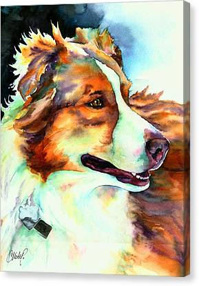 Cocoa Lassie Collie Dog Canvas Print by Christy  Freeman