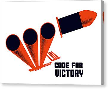Code For Victory - Ww2 Canvas Print by War Is Hell Store