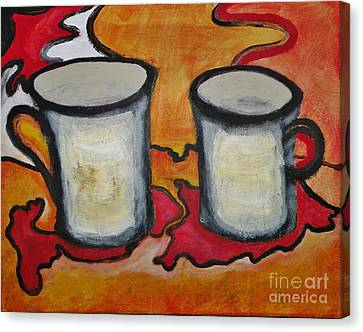 Coffee 2.0 Canvas Print by Michael Stanley
