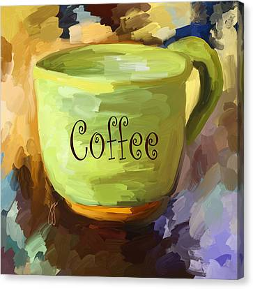 Coffee Cup Canvas Print by Jai Johnson
