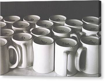 Coffee Cups- By Linda Woods Canvas Print by Linda Woods
