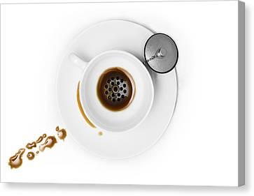 Coffee Drain Canvas Print by Dennis Larsen