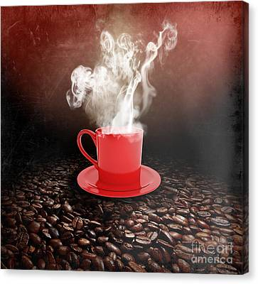 Coffee Canvas Print by Stefano Senise