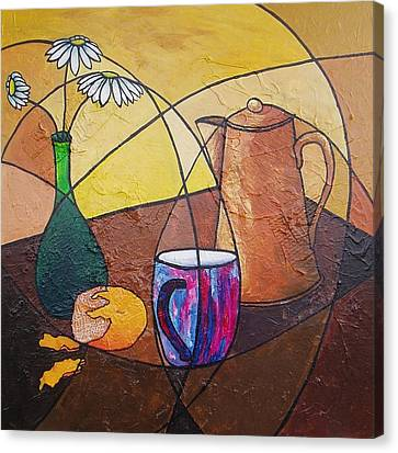 Coffee Time Canvas Print by Carol McLagan