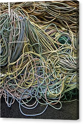 Coils Of Rope Canvas Print by Carol Leigh