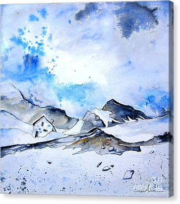 Col Du Pourtalet In The Pyrenees 01 Canvas Print by Miki De Goodaboom