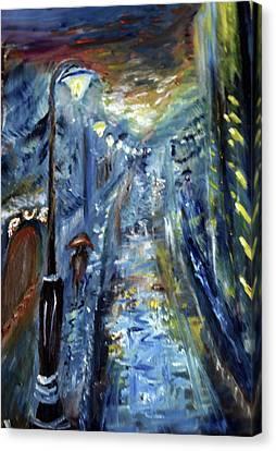 Cold Night Canvas Print by Rafaella Zamir
