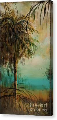 Cold Palm Marsh Canvas Print by Michele Hollister - for Nancy Asbell