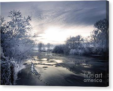 Cold River Flow Canvas Print by Angel  Tarantella