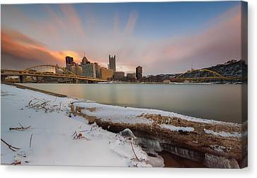 Cold Sunset Canvas Print by Jennifer Grover