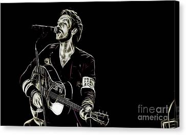 Coldplay Collection Chris Martin Canvas Print by Marvin Blaine