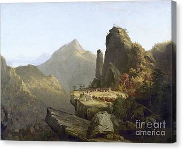 Cole: Last Of The Mohicans Canvas Print by Granger
