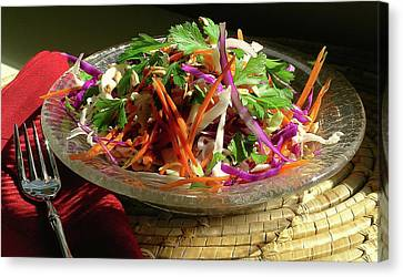 Coleslaw With Lemon Dressing Canvas Print by James Temple