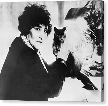 Colette 1873-1954 As The Most Honored Canvas Print by Everett