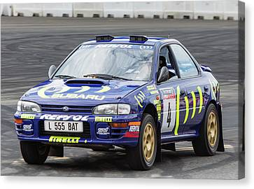 Colin Mcrae's Subaru Impreza Canvas Print by James Aldebert