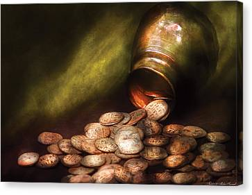Collector - Coin - Treasure Quest  Canvas Print by Mike Savad