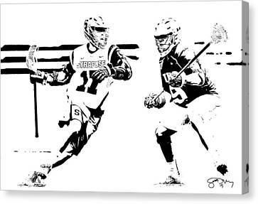 College Lacrosse 22 Canvas Print by Scott Melby