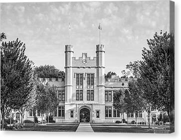 College Of Wooster Kauke Hall Canvas Print by University Icons