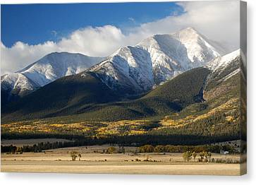 Collegiate Peaks From Buena Vista Colorado Canvas Print by Rhonda Van Pelt