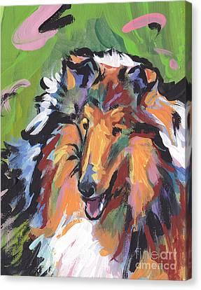 Collie Folly Canvas Print by Lea S