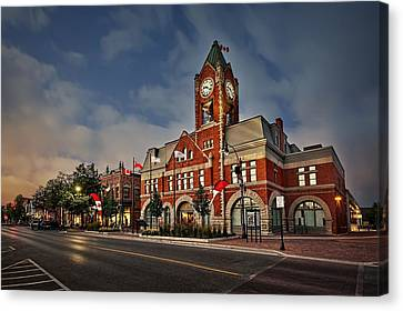 Collingwood Townhall Canvas Print by Jeff S PhotoArt