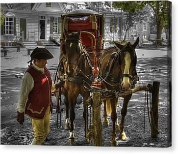 Colonial Williamsburg  V15 Canvas Print by John Straton