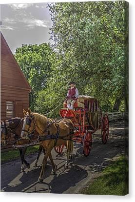 Colonial Williamsburg  V4 Canvas Print by John Straton