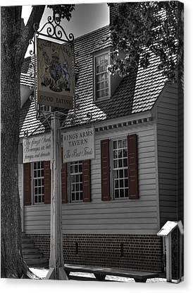 Colonial Williamsburg  V5 Canvas Print by John Straton