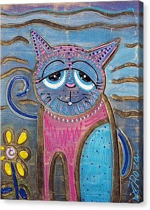 Color Me Cat Canvas Print by Laura Barbosa