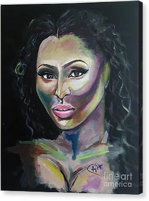 Color Me Niki Minaj  Canvas Print by Regimia Duffie