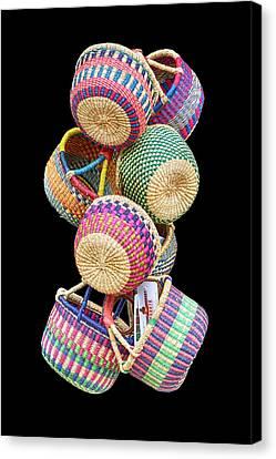 Color Of Baskets Canvas Print by John Haldane